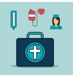 Medical blue briefcase vector