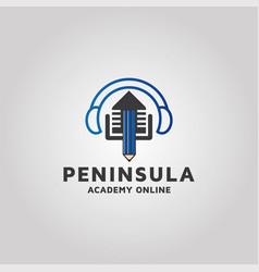 Modern music academy logo design template vector