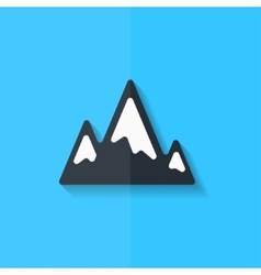 Mountains web icon Flat design vector image