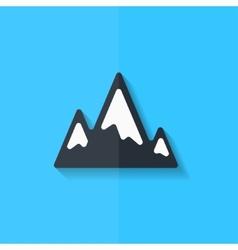 mountains web icon flat design vector image
