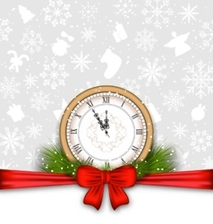 New Year Background with Clock vector