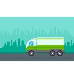 On city backgrounds delivery truck landscape vector