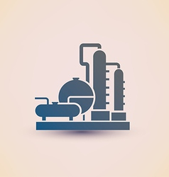 petrochemical plant symbol refinery oil distillati vector image