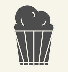 popcorn solid icon delicious vector image