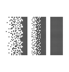 Rectangle disintegration into pixels vector