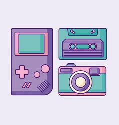 Retro devices design vector