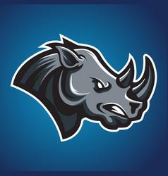 rhino head africa icon 01 vector image