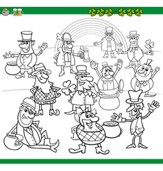 saint patrick day coloring book vector image