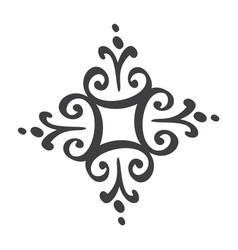 scandinavian handdraw snowflakes sign winter vector image
