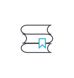 scientific books thin line stroke icon vector image