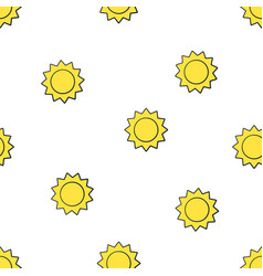 seamless pattern cute suns with triangular rays vector image