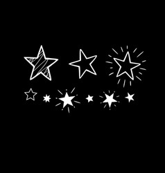 set several festive shining stars for design vector image