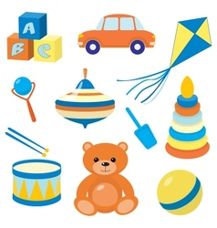 set toys 3 vector image