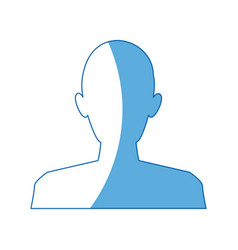 Silhouette man avatar people icon vector