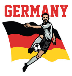 Soccer player germany vector
