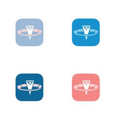 sport-fan-app-logo vector image