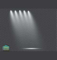 Spotlights scene light effects vector