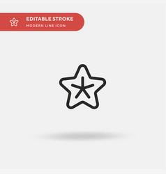 starfish simple icon symbol vector image