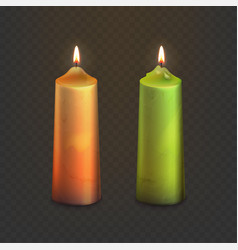 stock realistic old candles vector image