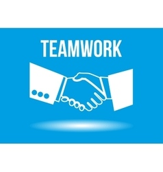 Teamwork shaking hands design concept vector image