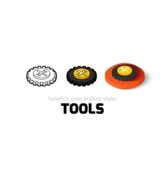 Tools icon in different style vector