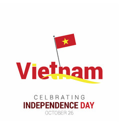 Vietnam independence day design vector