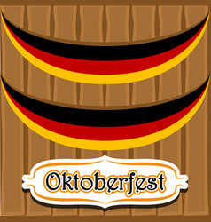 Wooden background with flags of germany vector