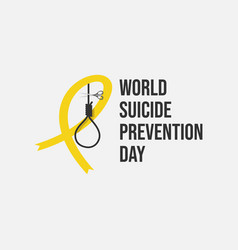 World suicide prevention day flat design vector