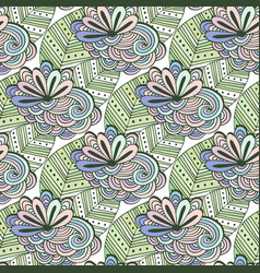 zen art floral pattern zentangle coloring page vector image