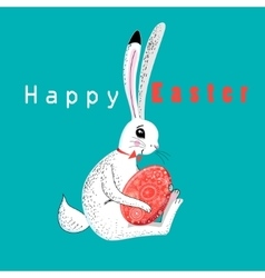 Easter card with rabbit vector image