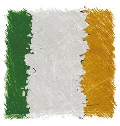 Flag of Ireland handmade square shape vector image vector image