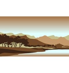 Forest Sunset Landscape vector image