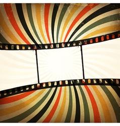 grunge film strip background vector image