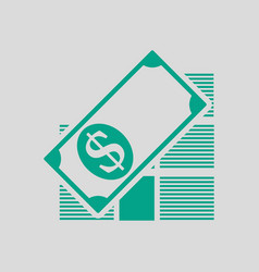 stack of banknotes icon vector image