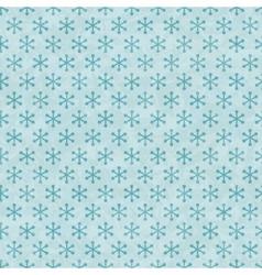 Christmas Snowflakes Pattern Seamless vector image