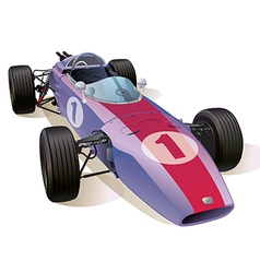 Classic F1 Racing Car vector image vector image
