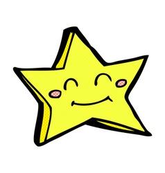 comic cartoon happy star character vector image