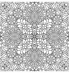 Floral full frame background of geometric designs vector image vector image