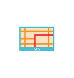 Gps navigation solid icon car element navigator vector