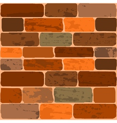 of a brick wall vector image vector image