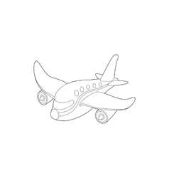 Plane icon outline style vector image vector image
