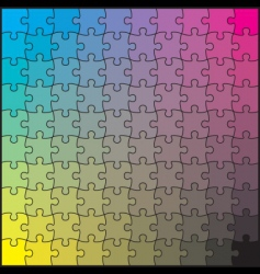 puzzle CMYK vector image vector image