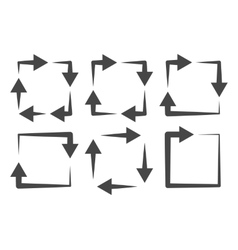 Square arrows icon set vector image vector image