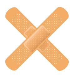 Adhesive bandage cross vector image