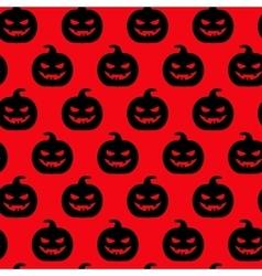 Autumn halloween pumpkin seamless pattern vector image vector image