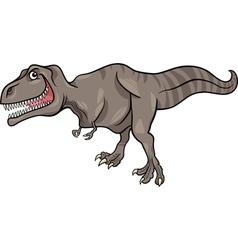 cartoon of tyrannosaurus dinosaur vector image