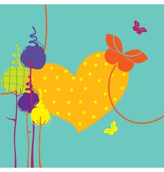 design greeting card vector image vector image