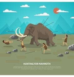 Mammoth Hunting vector image