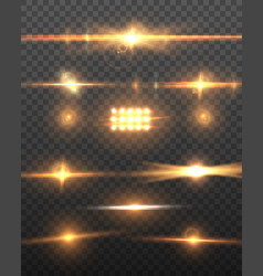 realistic camera lens flare set vector image vector image