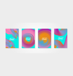 set of abstract backgrounds with fluid shapes vector image